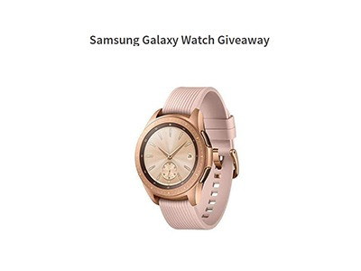 Samsung Galaxy Smartwatch Giveaway