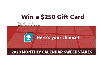 Lendmark Monthly Gift Card Sweepstakes
