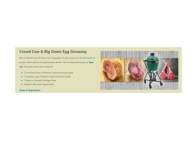 Crowd Cow Big Green Egg Giveaway