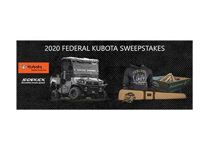 Federal Kubota UTV Sweepstakes