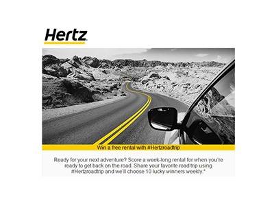 Win a Free Hertz Rental