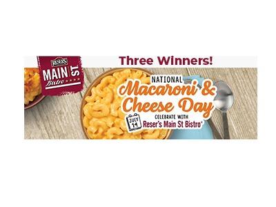 National Macaroni & Cheese Day Sweepstakes