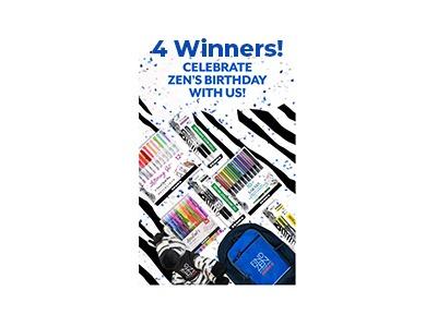 Zebra Pen Birthday Celebration Sweepstakes