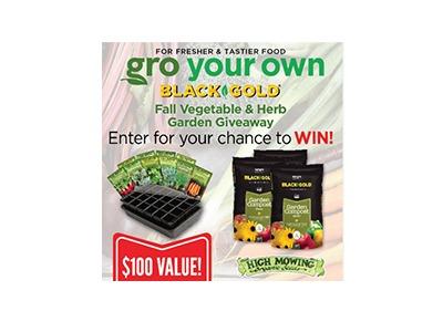 Black Gold Fall Herb & Vegetable garden Giveaway