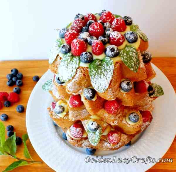 Italian Christmas Cake Pandoro Di Verona GoldenLucyCrafts