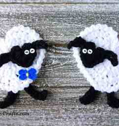 crochet heart sheep applique [ 1500 x 1009 Pixel ]
