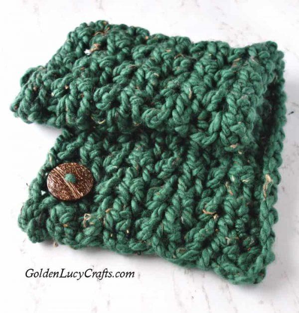 Easy crochet cowl pattern, super bulky crochet cowl, chunky cowl, neck warmer crochet pattern, free crochet pattern