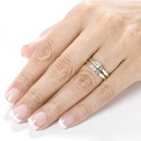 Three Stone Engagement Ring Set   Wedding Gallery