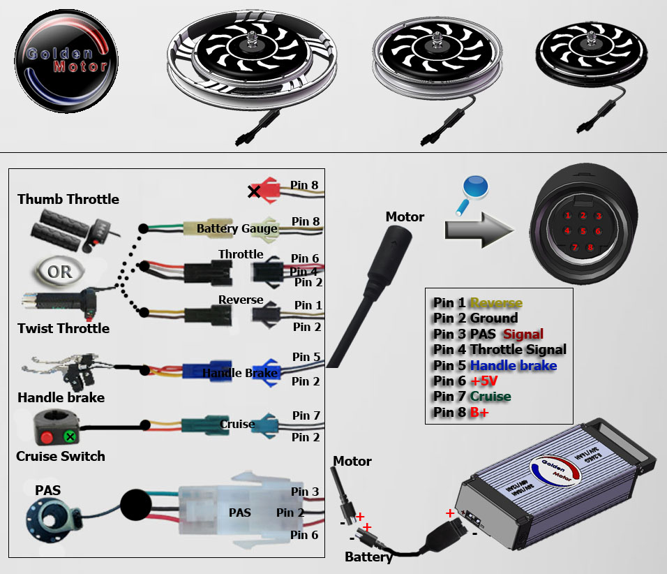 wiring diagram for motorized bicycle jvc car stereo color bike conversion kits, hub motor, magic pie edge, lifepo4 battery pack, brushless dc motor ...