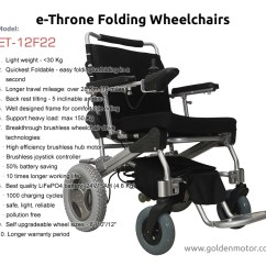 Wheel Chair Motor Hammock And Stand Set Portable Electric Wheelchair Folding Brushless Power E