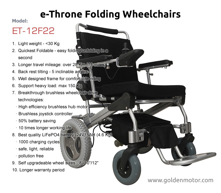 motorized wheel chair ikea stool hack portable electric wheelchair folding brushless power motor e
