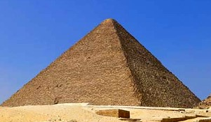 Great Pyramid of Giza, Egypt with golden ratio proportions