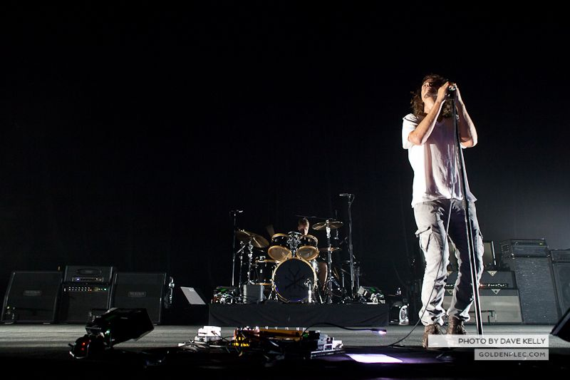 Soundgarden performing at the O2