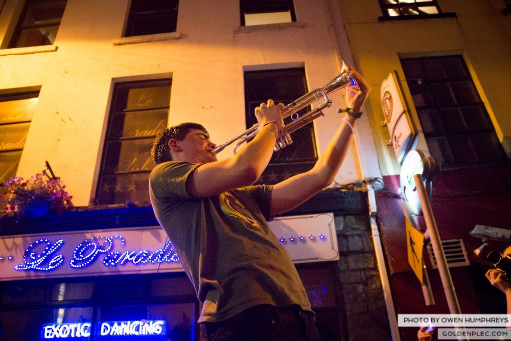 Booka Brass Band at the Roisin Dubh – Galway Arts Festival by Owen Humphreys (15 of 26)