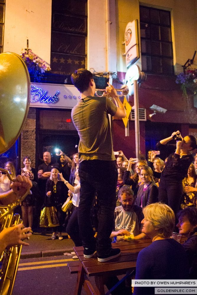 Booka Brass Band at the Roisin Dubh – Galway Arts Festival by Owen Humphreys (18 of 26)
