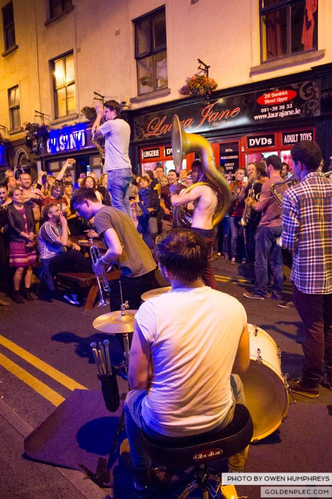 Booka Brass Band at the Roisin Dubh – Galway Arts Festival by Owen Humphreys (19 of 26)