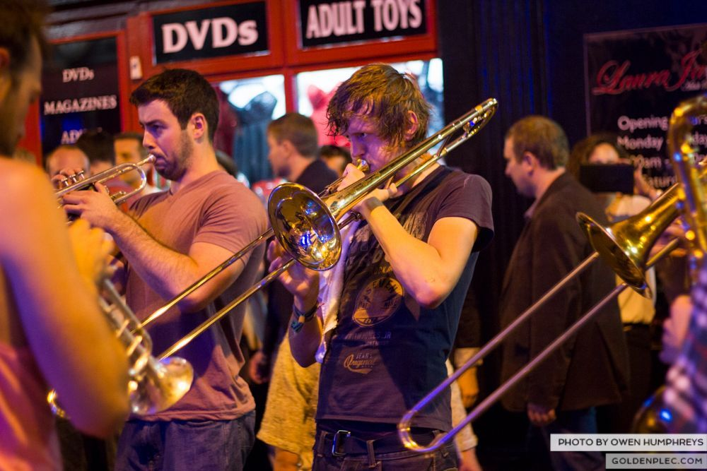 Booka Brass Band at the Roisin Dubh – Galway Arts Festival by Owen Humphreys (23 of 26)