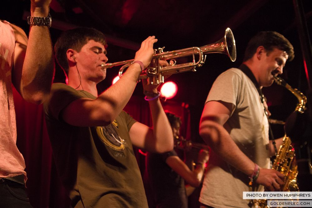 Booka Brass Band at the Roisin Dubh – Galway Arts Festival by Owen Humphreys (7 of 26)