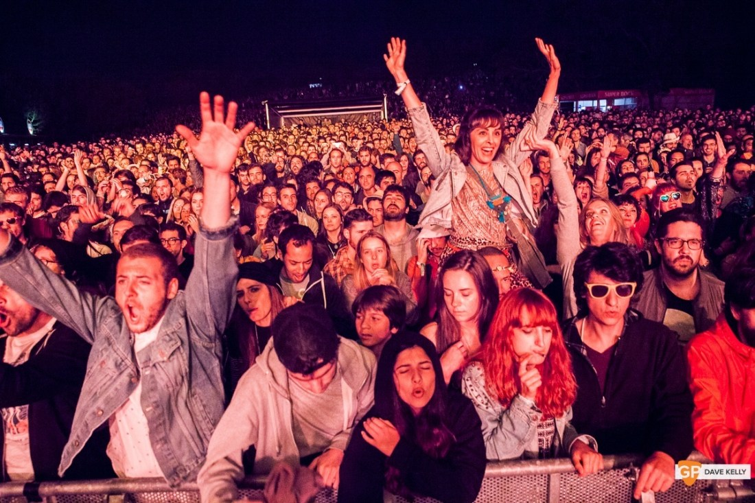 Crowd at JUNGLE at NOS Primavera Sound, Porto by David Kelly