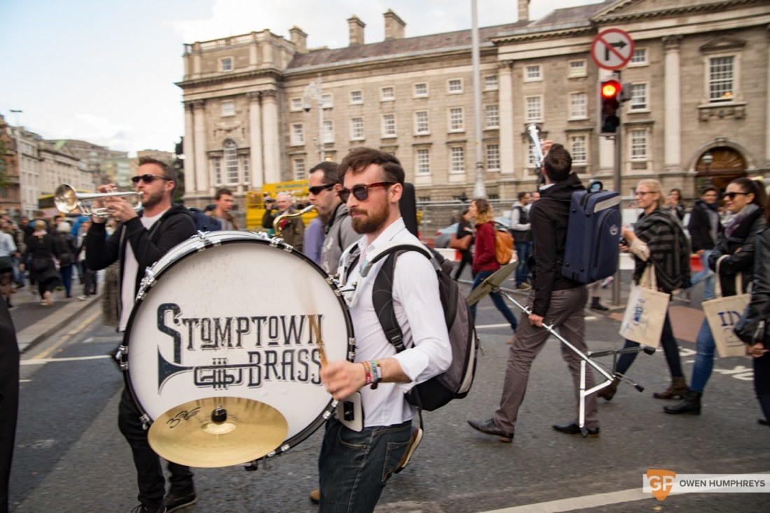 Stomptown Brass parade through Dublin (8 of 25)