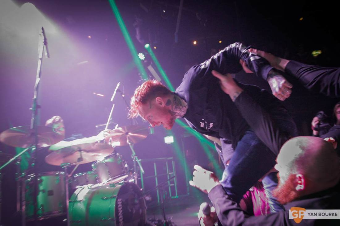 Frank Carter and the Rattlesnakes  in The Academy on 10 February 2016 by Yan Bourke-4