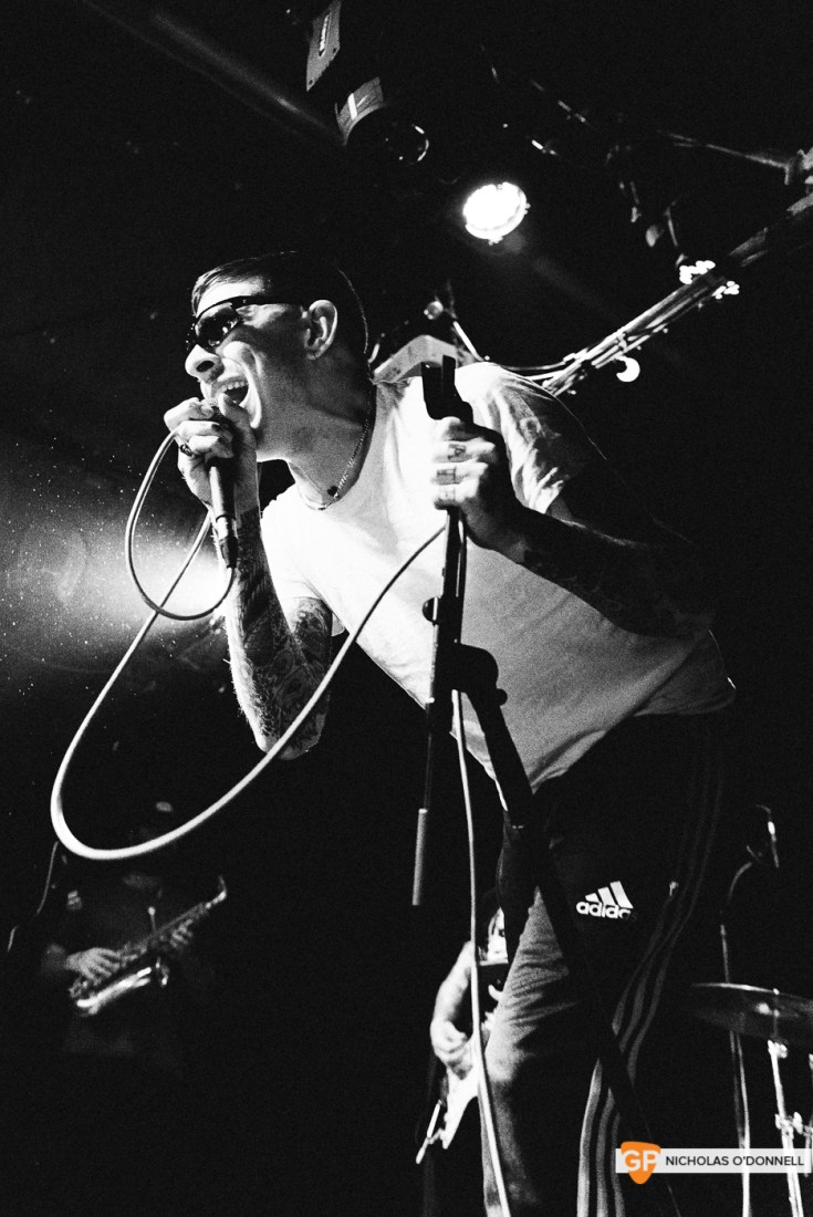 Viagra Boys performing in The Grand Social. Photographs by Nicholas O'Donnell.