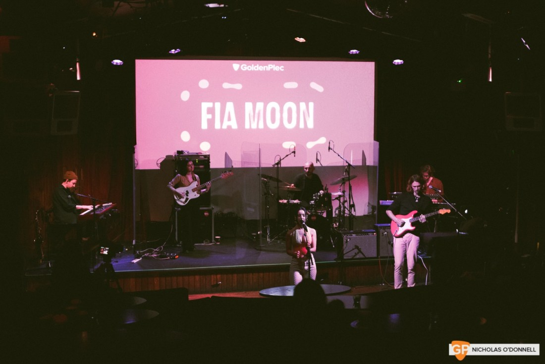 Fia Moon performing at GoldenPlec Jam Session. Photo by Nicholas O'Donnell
