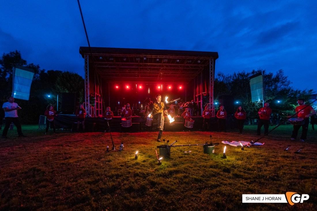 Will Flanagan & Cork City Samba Band, The Great Beyond Festival, Ballinacurra House, Cork, Shane J Horan, 11-09-21 -1