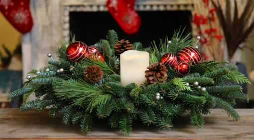 Evergreen Candlelit Centerpiece