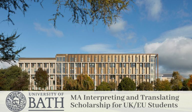 MA Interpreting and Translating funding for UK/EU Students at University of Bath in the UK, 2020