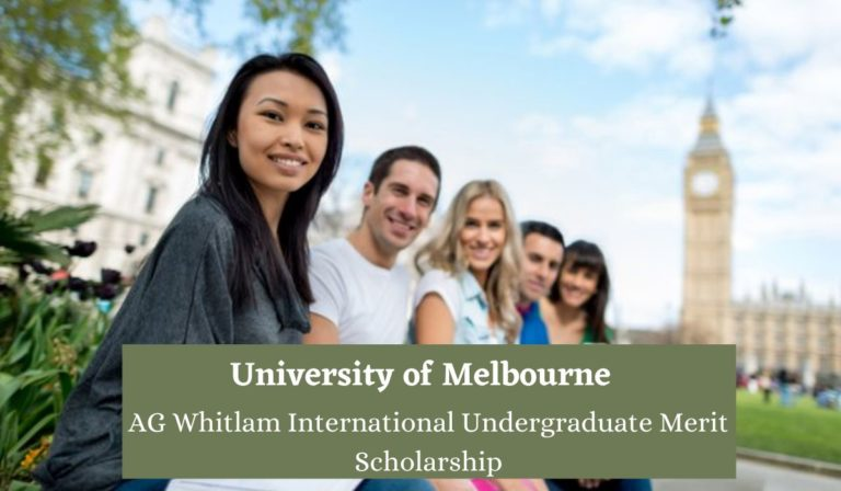 University of Melbourne AG Whitlam International Undergraduate Merit Scholarship in Australia