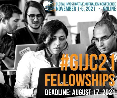 12th Global Investigative Journalism Conference (Online) Fellowships for Journalists in Developing Countries