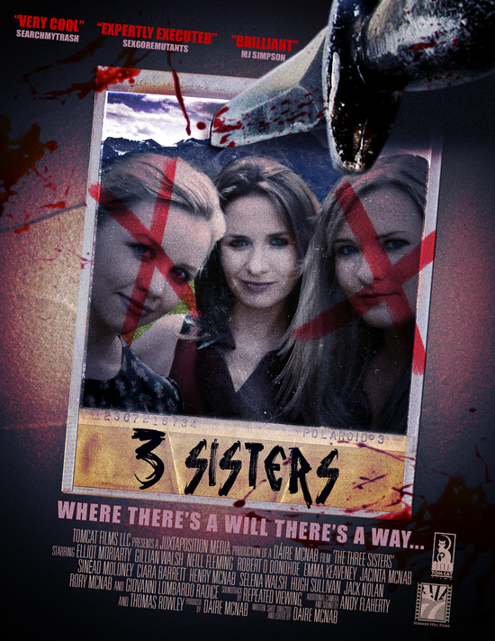 new poster and us release date for giallo film 3 sisters golden