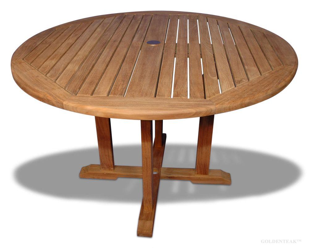 teak dining table padua round dia 48 inch