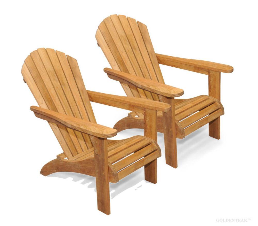 teak adirondack chair pair set save