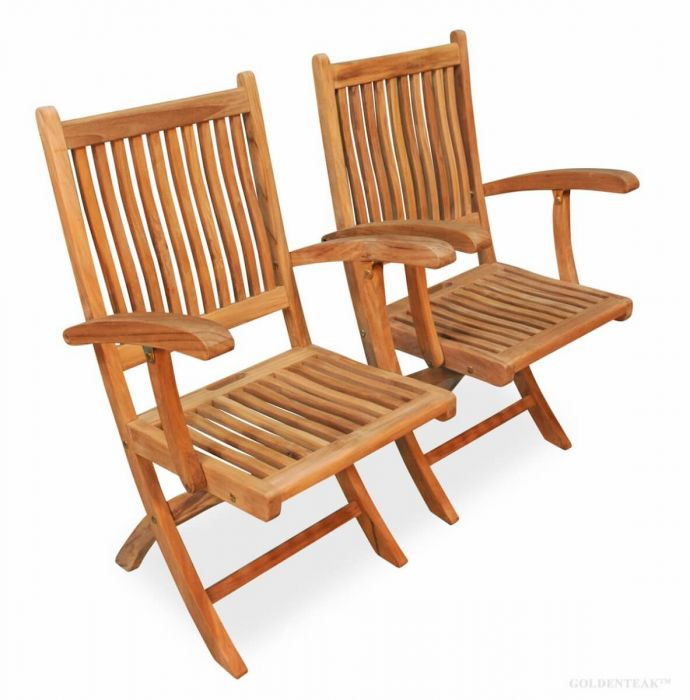 teak folding chair vintage childs table and chairs rockport with arms wood online