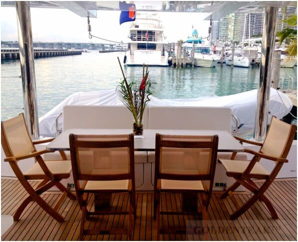folding chairs for boats sam maloof rocking chair teak and sling providence on boat customer photo from goldenteak