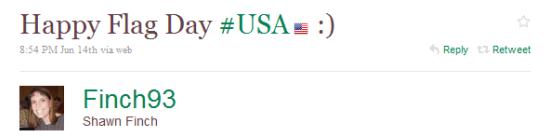 Happy Flag Day tweet