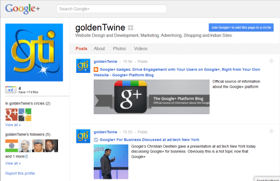 GoldenTwine Business Page