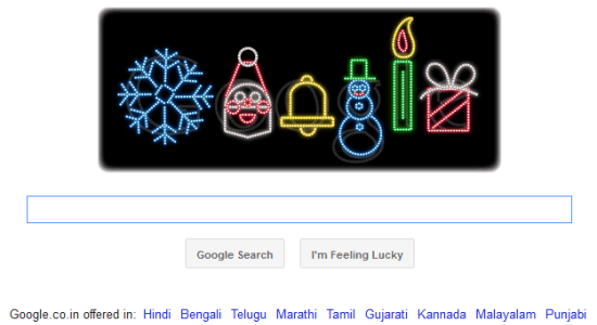 Happy Holidays Google Doodle