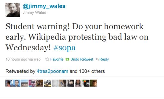 Student Warning Tweet