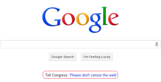 Link on Google Home Page