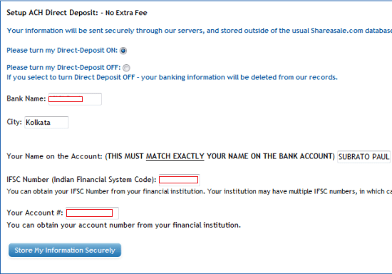 Direct Deposit to Bank Form