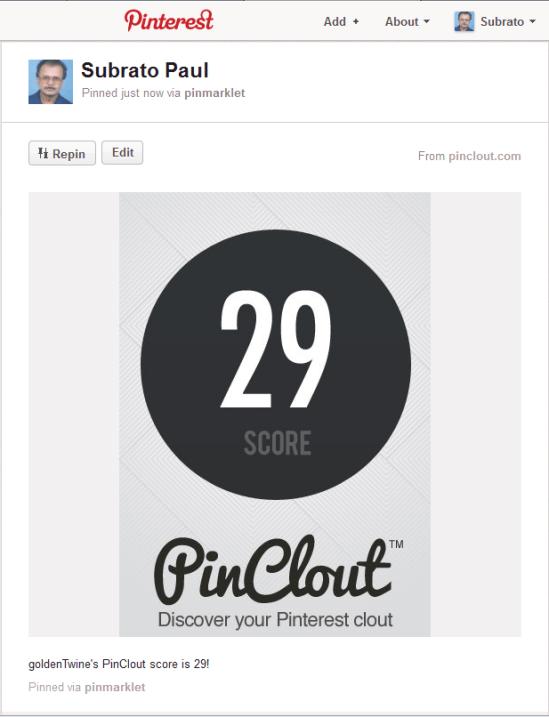 Pin PinClout Score