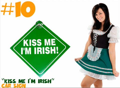 Kiss Me I'm Irish Car Sign