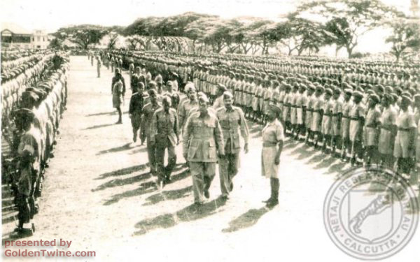 Subhas Bose with his army