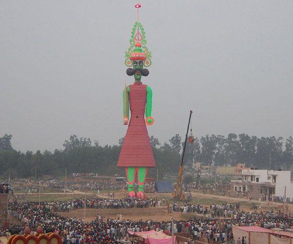 Tallest Ravana Effigy in Barara