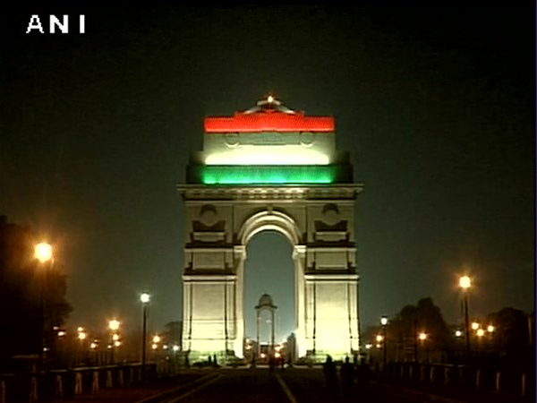 India Gate lit up in tricolour