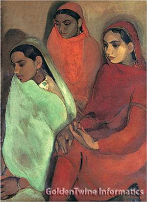 Group of three girls