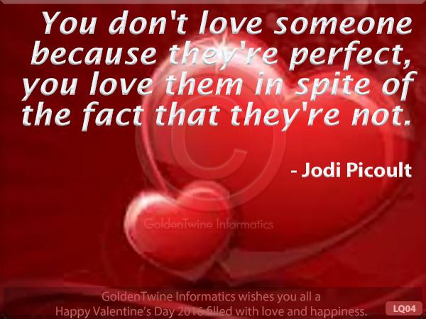 Picture Love Quote - Jodi Picoult